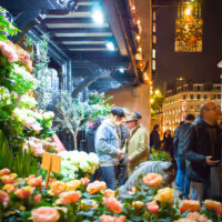 Flower Stand at Night