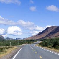 Empty Road in Newfoundland