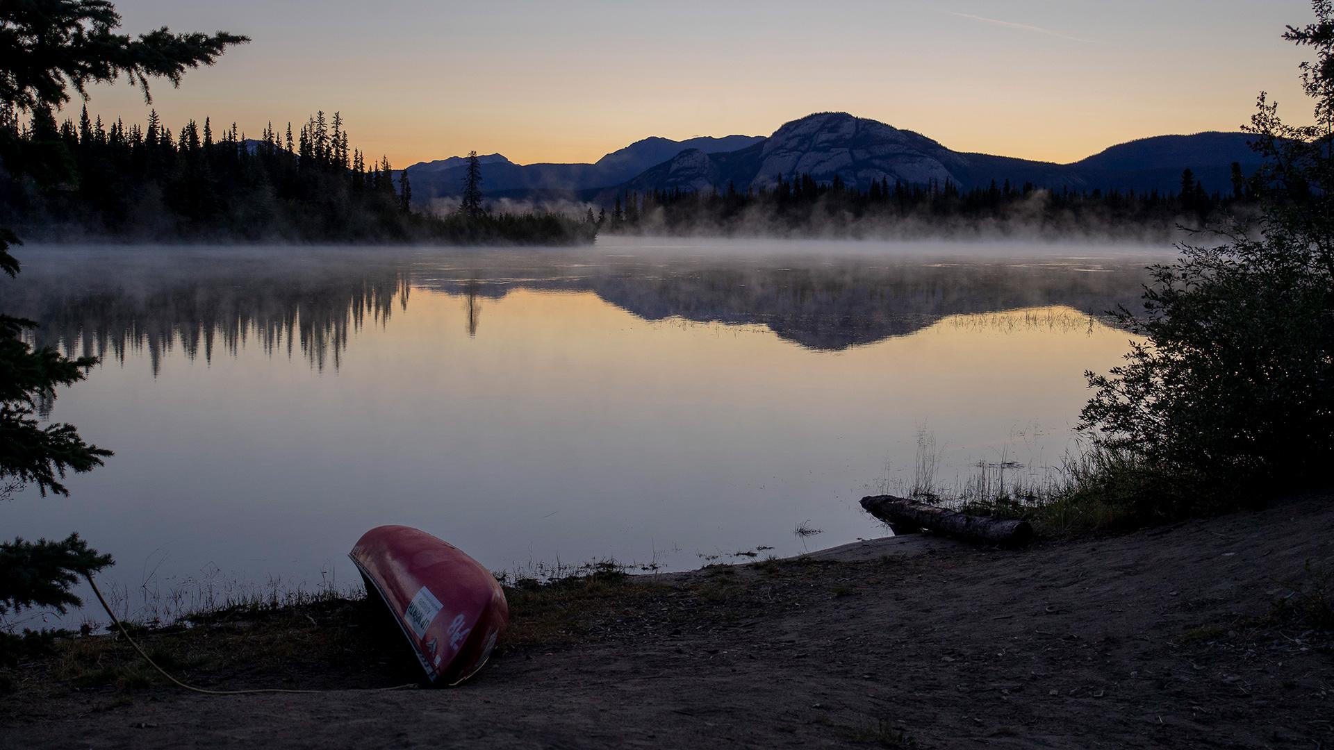 Dawn over the Yukon River