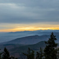 Sunset over the Vosges